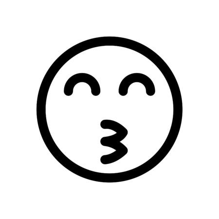 kissing emoji with smiling eyes Ilustração