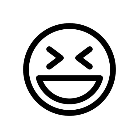 笑い絵文字  イラスト・ベクター素材