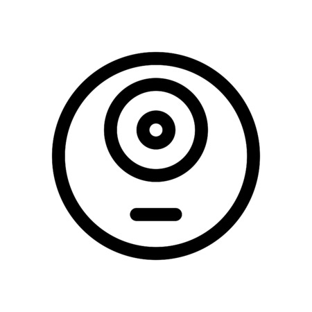 one eye monster emoji 向量圖像