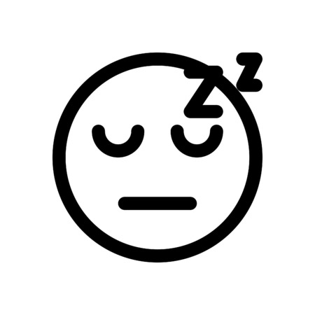sleeping emoji Stock Vector - 86306823