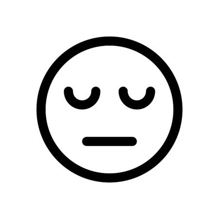 Müde emoji Standard-Bild - 86306831