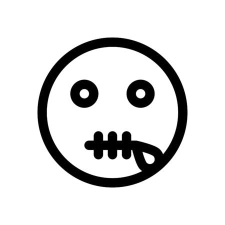 zipper mouth emoji