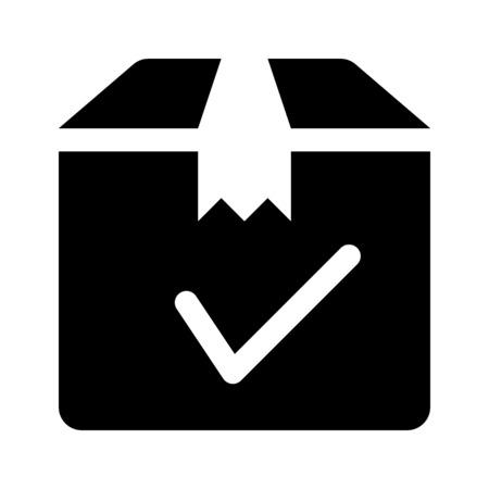 delivery box check Illustration