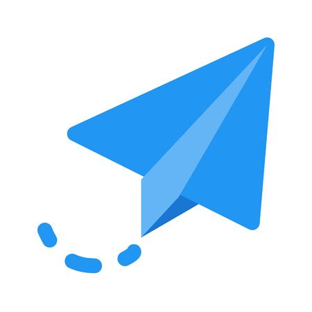 vliegende papieren vliegtuig