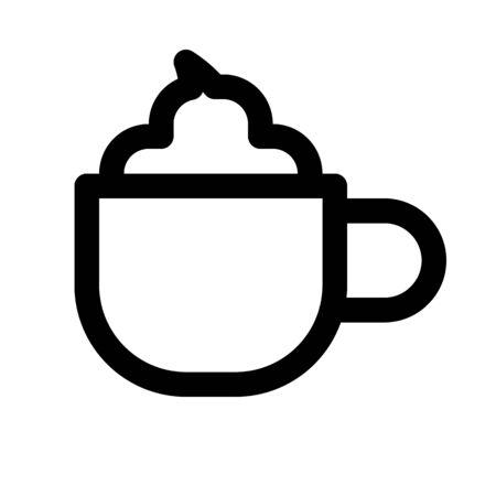 latte - coffee drink Illustration