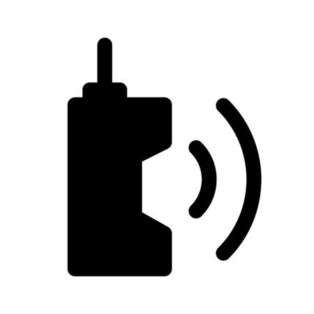 handheld transceiver Ilustração