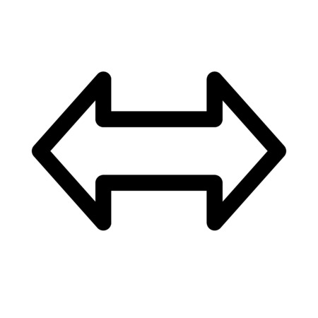 double headed: back and forth arrow