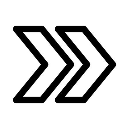 二重シェブロン矢印
