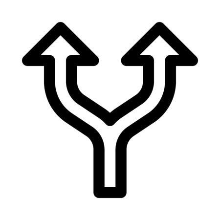 split up arrow Ilustração Vetorial