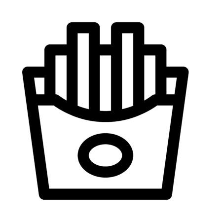 french fries Illustration