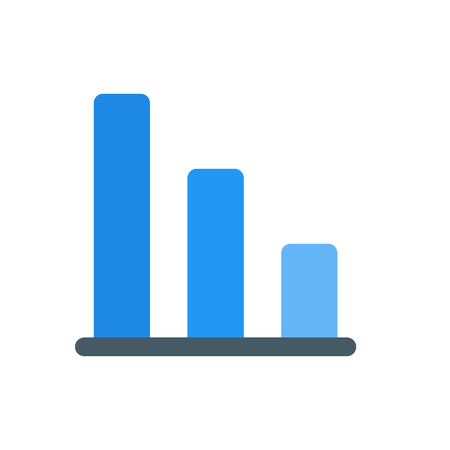 vertical down bar chart