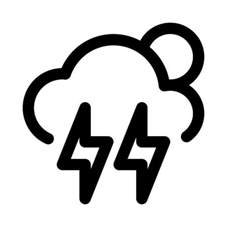 雷雨の日  イラスト・ベクター素材
