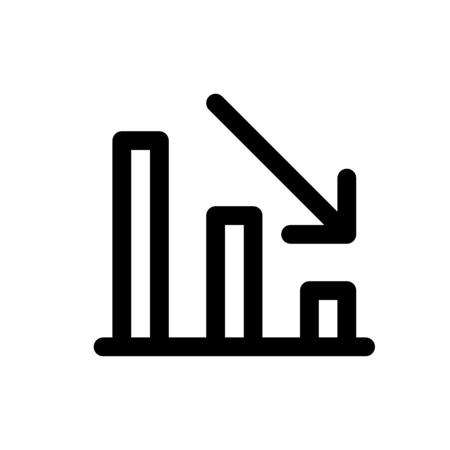 loss bar chart Ilustração