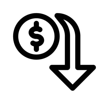 money value down Illustration