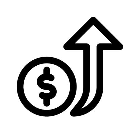 money value up Illustration