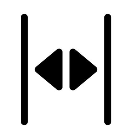 double headed: open split arrow