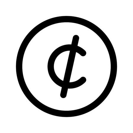 cent symbol Иллюстрация