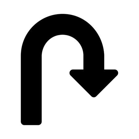 uturn: turn back arrow Illustration