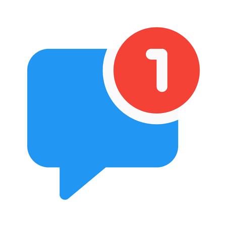 notificación de chat Ilustración de vector