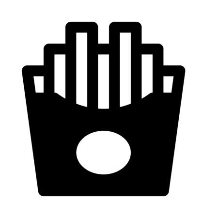 French fries. Illustration