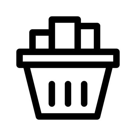 basketful: Groceries.