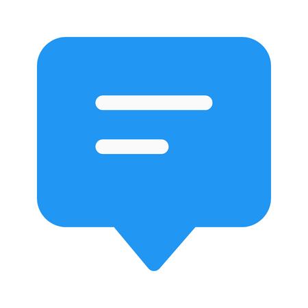reactie chat bubble Stock Illustratie