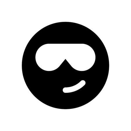 cool emoji with sunglasses