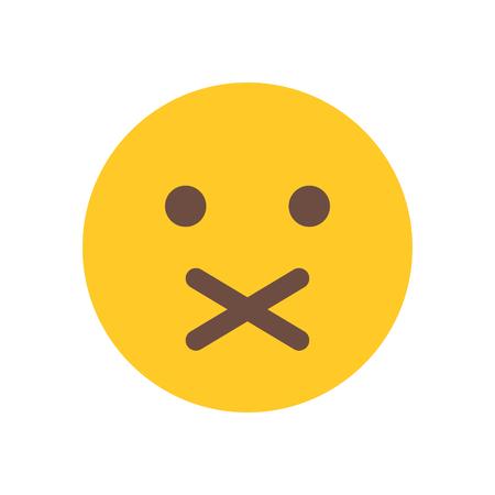 gesloten mond emoji
