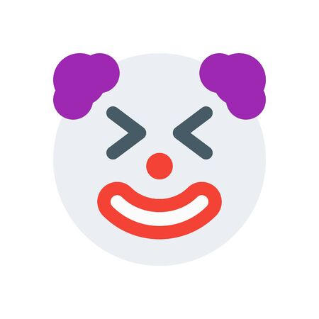 clown with closed eyes