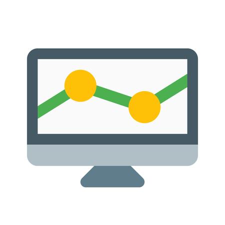 市場調査統計アイコン。