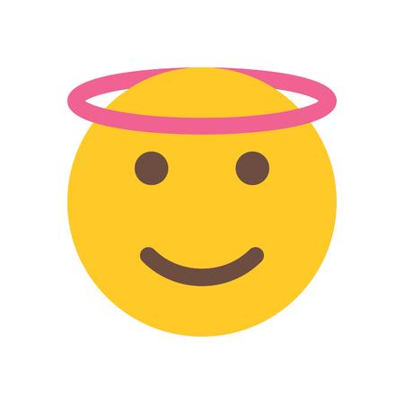 天使の絵文字アイコン。
