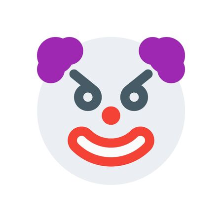 Angry clown icon. Иллюстрация