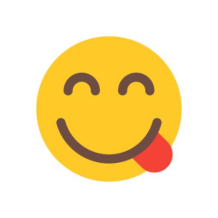 emoji saboreando comida deliciosa