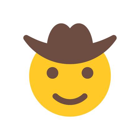 happy cowboy Иллюстрация