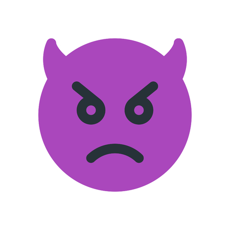 sad devil emoji