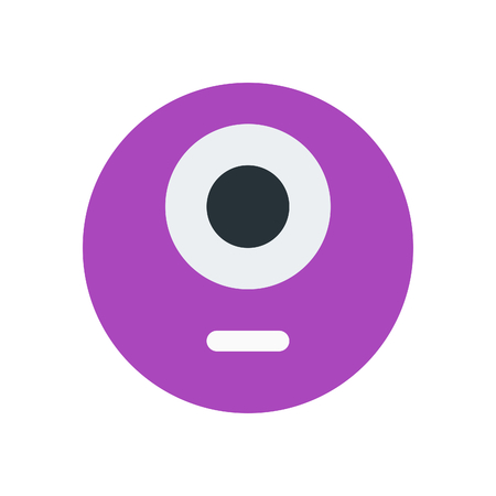 one eye monster emoji Иллюстрация