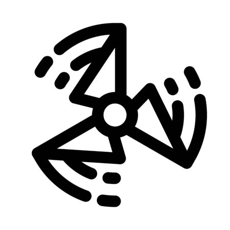Fidget spinner spinning icon design illustration.