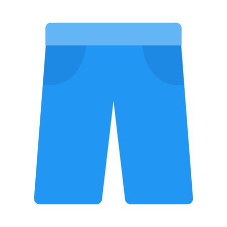 Trendy shorts icon. Illustration