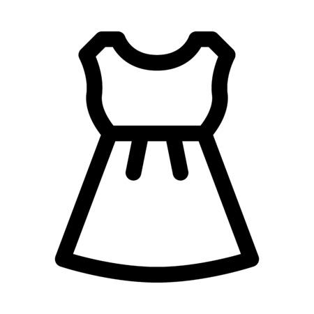 Strapless dress icon.