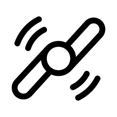 Fidget spinner icon.