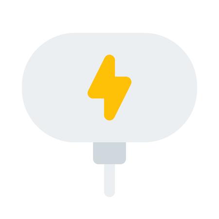 Wireless charging dock icon. Ilustrace