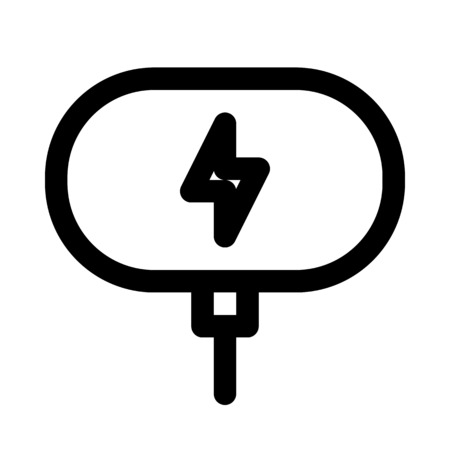 Wireless charging dock icon. Illustration