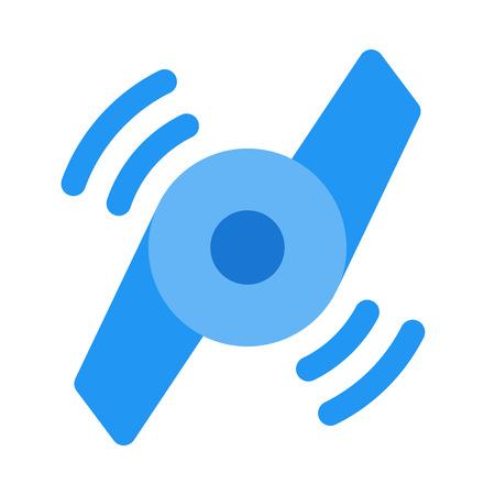 Fidget spinner spinning icon design illustration.