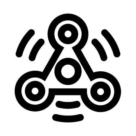 Spinnende Ikonendesignillustration des zappelnspinners.