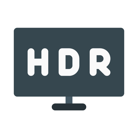 High dynamic range tv icon. 向量圖像