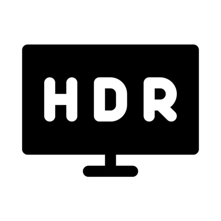 High dynamic range tv icon. Çizim