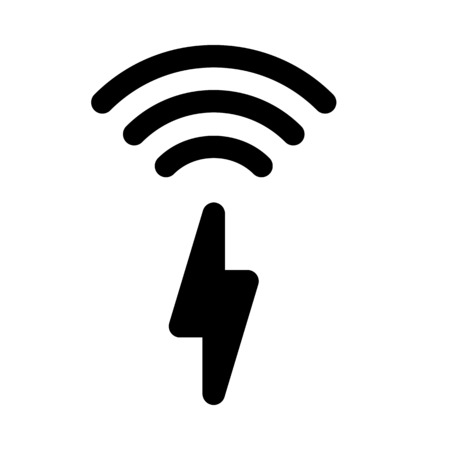 Inductive charging icon.