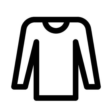 Winter wear t-shirt icon.