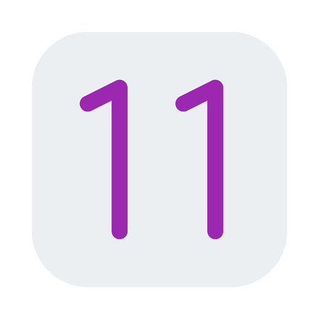 Mobile operating system version 11 icon.