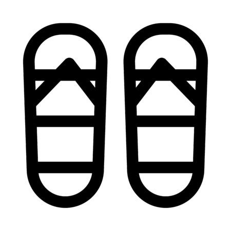 Rainbow flip flops icon.